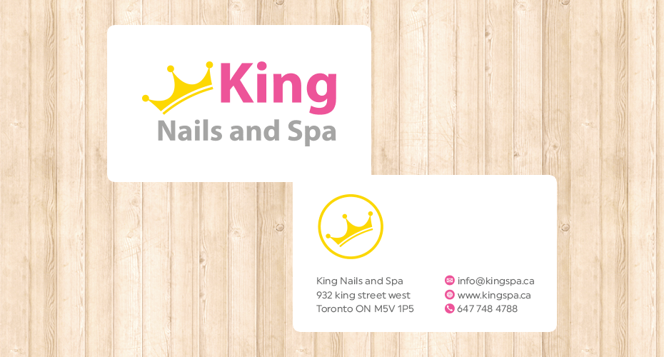 Business card design & print for a spa