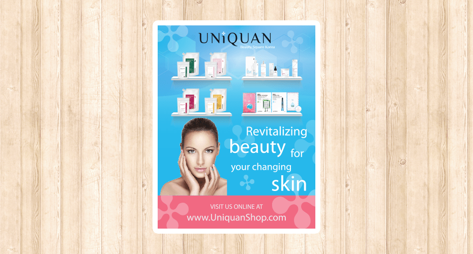 Flyer Design for Cosmetics Company