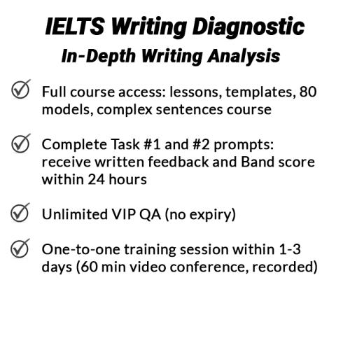 IELTS Writing Diagnostic - in-depth IELTS writing assessment