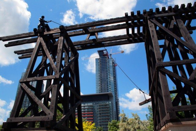 The Chinese Railroad Workers Memorial in downtown Toronto. Photo by Shaun Merritt in the Torontoist Flickr Pool.