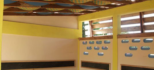 The classroom's esthetic was designed by interior designers.