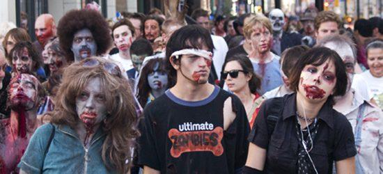 The Zombie Walk has been held in Toronto since 2003.