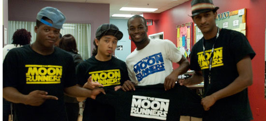 B-boy dance group Moon Runners perfect their moves and school the younger kids at the centre.
