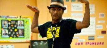 Raoul Wilke -- a found member of Moon Runners, a b-boy crew that practices at Tropicana -- schools the younger kids at the Scarborough Youth Resources Centre Oct. 3.