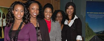 Members of the Black Pearls visit UTSC to speak to high school students about pursuing post secondary education.