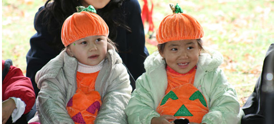 The Pumpkin Twins.