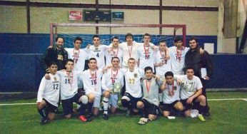 The East York Goliaths win gold, with a final score of 5-1. Goals scored by #3, #77, #11, #19, and #4.
