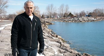 Dave Stanley, a local resident, walks often through the Bluffs.