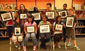 Members of the photo club at St. Boniface Catholic School