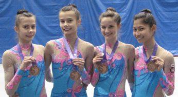 (left to right) Victoria Reznik, Anjelika Reznik, Katrina Cameron, Melodie Omidi