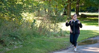 Smiles and thumbs up from runners at Cedarbrook Park's annual Terry Fox Run, which took place on a sunny Sept. 19.