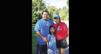The Martinez family take part in Cedarbrook Park's Terry Fox Run for the fourth year in a row to support cancer patients. This year's run took place on a sunny Sept. 19.