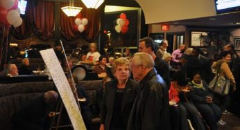 Thompson's campaign manager Marcia Styles at his victory party on election night.