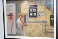 Winner Glenn Bernabe's 'Subway Platform.' Pastel on paper. $3700.