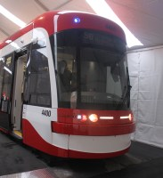 Toronto's new streetcars are twice as long as those presently in service.