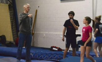 Dave Ross, 61, has been coaching trampoline for over 40 years and opened Skyriders Trampoline Place in 1990. Ross says his proudest coaching moment was when Karen Cockburn won the World Championships in 2003 because he had always dreamed of producing a world champion one day.