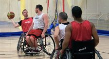 Brandon Wagner, left, is set to represent Canada for the first time in wheelchair basketball at the 2012 Summer Paralympic Games in London.