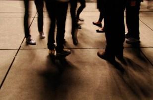 'Audience Feet' by photographer John Oughton.