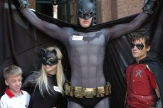 Even Batman, Robin and Catwoman makes an appearance in support of Easter Seals.