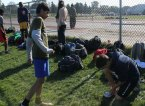 Birchmount Park Collegiate students taking a break during practice