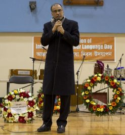 The High Commissioner of Bangladesh to Canada, Karmul Ashan, speaks at the event.