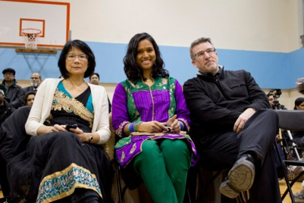 From right: NDP MP's Olivia Chow, Rathika Sitsabaiesan and Craig Scott.
