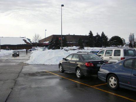 Centennial East Recreation Centre parking lot.