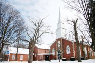 In 1896, Scarborough celebrated the 100th anniversary of the settlement of Scarborough Township by building the Centennial Library. Despite its old age, the library is not in use today. It is now a storage room looked after by the pastor from the nearby church.
