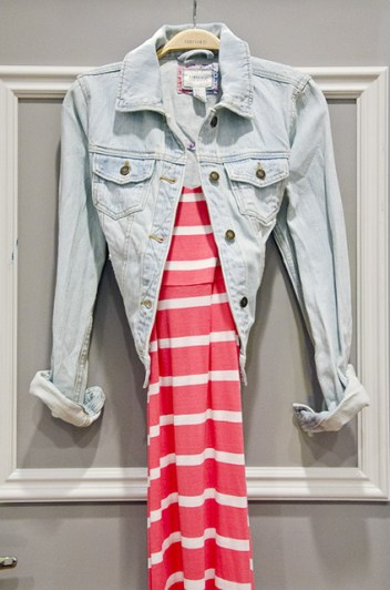 Budget staple items like a denim jacket and maxi dress from Forever21 would cost you $53, MARCH 31, 2013.