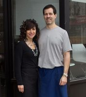 Owner of Appetite Simon Holder, R, and his wife Athena Kalkanis