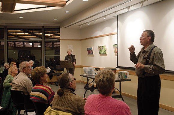 Peter Gill speaks to the Leaside Garden Society.
