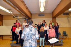 Dianne Clare directs the Scarborough Sweet Adelines Chorus at St. Paul's L'Amoreaux Church. The chorus is offering a free, five-week trial membership and vocal lessons to find new members and give women an opportunity to explore their talents.