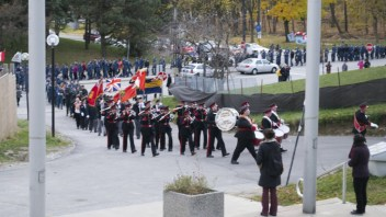 The parade continues into the Scarborough Civic Centre.