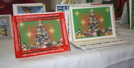Beautiful handcrafted Christmas cards made also by the residents.