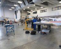 The aerospace department at Centennial College Ashtonbee campus.