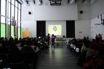 The gymnasium at Blessed Pier Goirgio Frassati Catholic School.