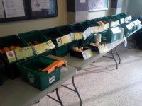 Mobile Good Food Market set up at Mornelle Court.