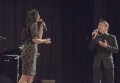 Martha Joy sings a duet with Ken de los Santos.