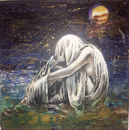 """This is a painting by Raymond Dutrisac called """"Moon Shawdow."""""""
