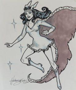 Nelvana fan art by artist Janet Heatherington