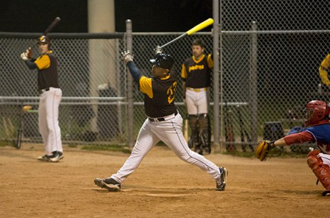 John Mariotti drives in the only run of the game on this swing, sending the ball into right field for an RBI double.