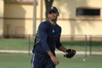 Endrys Briceno warming up during a Detroit Tigers practice in Lakeland Florida/ Photo Credit: Lauren Maharaj