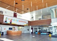 Insode the Atos Markham Pan Am / Parapan Am Centre