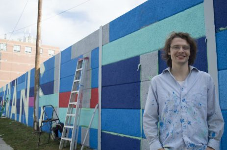 'Transitions' mural designer and artist, Sean Martindale