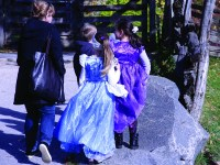 Children celebrate at Riverdale Farm's annual Halloween event recently.