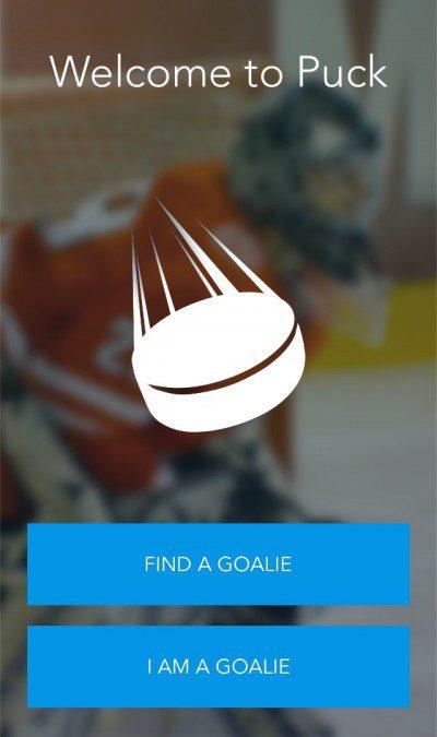 Screenshot of Puck app that helps teams find a goalie in Toronto.