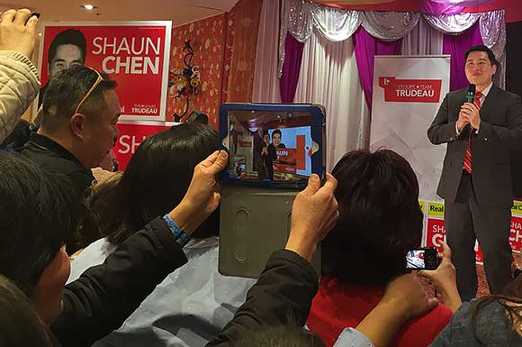 Scarborough North Liberal MP Shaun Chen