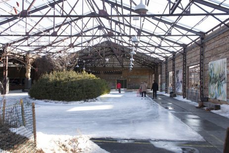 Rink-side view at the Brick Works.