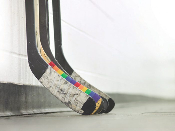 The creators of Pride Tape hope the rainbow-coloured tape will promote inclusion in sports for LGBTQ youth.
