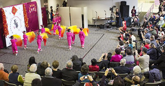 The audience enjoys a children's dance performance in celebration of the Chinese New Year at the Scarborough Civic Centre on Jan. 7.